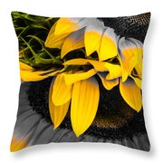 A Different Kind Of Sunflower Throw Pillow