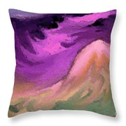 A Digital Storm Throw Pillow
