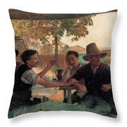 A Discussion In Politics Throw Pillow