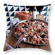 A Dish Of Paella Throw Pillow