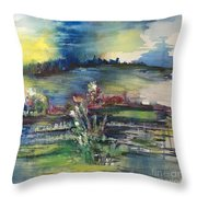 A Distant Thunder Throw Pillow