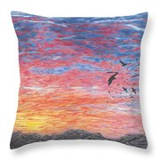 A Distant Time Throw Pillow