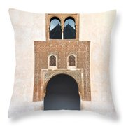 A Door On The Court Of The Myrtles Throw Pillow