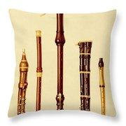 A Double Flageolet, A German Flute Throw Pillow