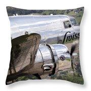 A Douglas Dc-3 Of Swiss International Throw Pillow