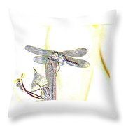 A Dragonfly In My Dreams Throw Pillow