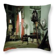A Drawing Room Throw Pillow