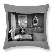 A Dressing Room Throw Pillow