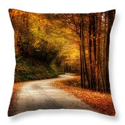 A Drive In The Mountains Of Western North Carolina Throw Pillow