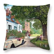A Drive Out Throw Pillow