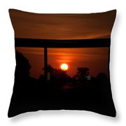A Driver's View Throw Pillow
