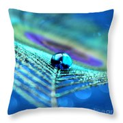 A Drop Of Mystery Throw Pillow