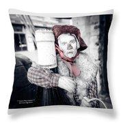 A Drunk Puppet Life Throw Pillow