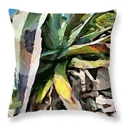 A Dry Agava Throw Pillow