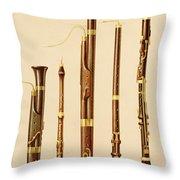 A Dulcian, An Oboe, A Bassoon Throw Pillow