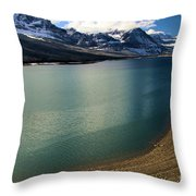 A Dusting On Glacier Throw Pillow
