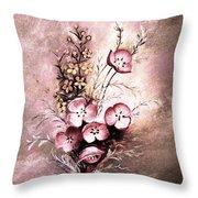 A Dusty Rose Bouquet Throw Pillow