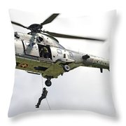 A Eurocopter As332 Super Puma Throw Pillow
