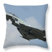 A Eurofighter Typhoon Of The Royal Air Throw Pillow