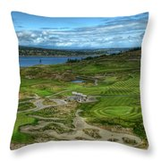 A Fairway To Heaven - Chambers Bay Golf Course Throw Pillow