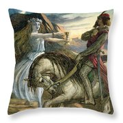 A Fairy And A Knight Throw Pillow
