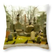 A Fall Gathering Of Crows Throw Pillow
