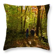 A Fall Walk With My Best Friend Throw Pillow