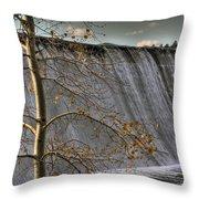 A Fall Waterfall Throw Pillow