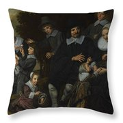 A Family Group In A Landscape Throw Pillow