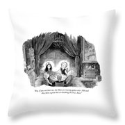 A Family Holds Hands In A Circle With A Psychic Throw Pillow