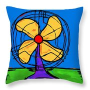 A Fan Of Color Throw Pillow