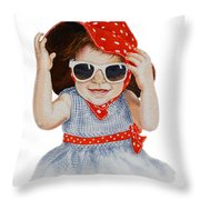 A Fashion Girl  Throw Pillow