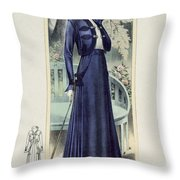 A Fashionable French Lady Throw Pillow
