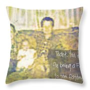 A Father To The Fatherless Throw Pillow