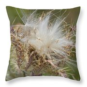 A Feather's Weight In Gold Throw Pillow