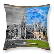 A Feeling Of Past And Present Throw Pillow