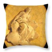 A Female Allegorical Figure Throw Pillow