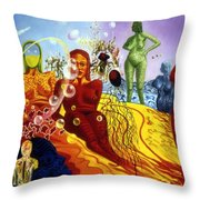 A Feminine Day In A Masculine Dreamer's Night Throw Pillow