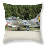 A Fiat G-91 Fighter Plane Of The German Throw Pillow