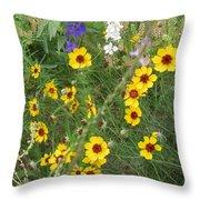 A Field Bouquet Throw Pillow