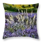 A Field Of Lavender Throw Pillow