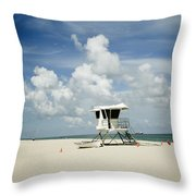 A Fine Day At The Beach Throw Pillow