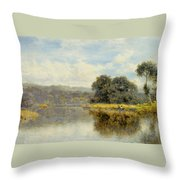 A Fine Day On The Thames Throw Pillow
