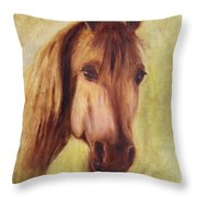 A Fine Horse Throw Pillow