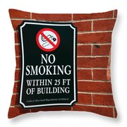 A Fine Line Between Right And Wrong Throw Pillow by James Brunker