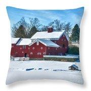 A Fine Winter Day Throw Pillow