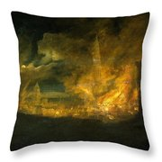 A Fire In The City Throw Pillow