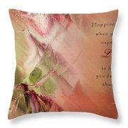 A Fleur De Peau - Happiness Quote 03 Throw Pillow