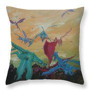 A Flight Of Dragons Throw Pillow