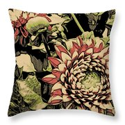 A Floral View Throw Pillow